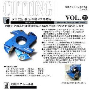 Vol.21 ダボ工法 框(カマチ)組ドア用刃物のボタン