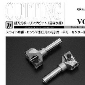 Vol.38 替刃式ボーリングビット(座繰り錐)のボタン