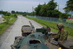 戦車の体験乗車